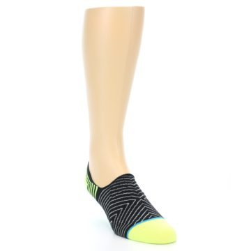 Image of Black White Neon Stripe Men's Liner Socks (side-1-front-02)