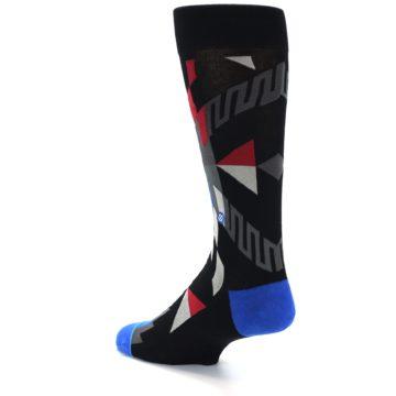 Image of Black Red Blue Aztec Pattern Men's Casual Socks (side-2-back-14)