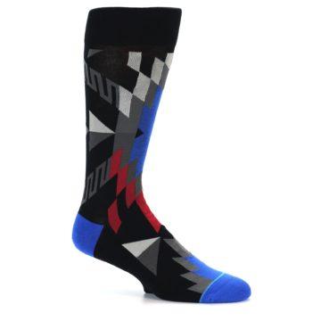 Image of Black Red Blue Aztec Pattern Men's Casual Socks (side-1-25)