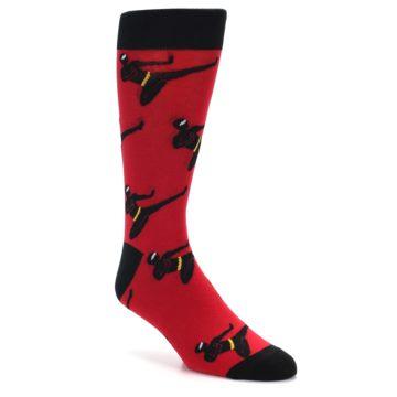 Image of Red Black Ninja Men's Dress Socks (side-1-front-01)