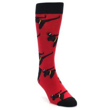 Image of Red Black Ninja Men's Dress Socks (side-1-front-02)