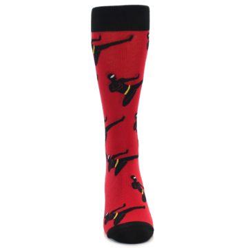 Image of Red Black Ninja Men's Dress Socks (front-04)