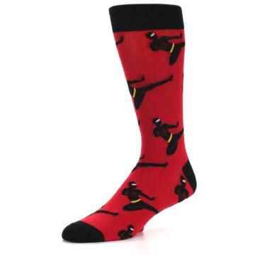 Image of Red Black Ninja Men's Dress Socks (side-2-09)