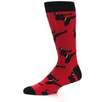 Image of Red Black Ninja Men's Dress Socks (side-2-11)