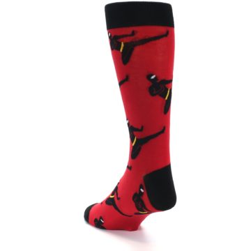 Image of Red Black Ninja Men's Dress Socks (side-2-back-15)