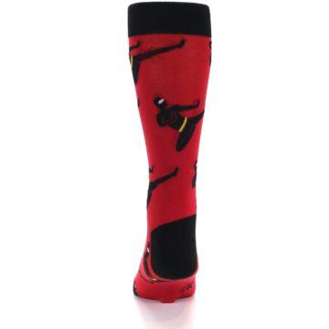 Image of Red Black Ninja Men's Dress Socks (back-17)