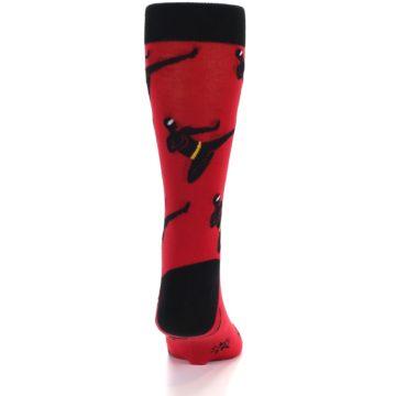 Image of Red Black Ninja Men's Dress Socks (back-18)