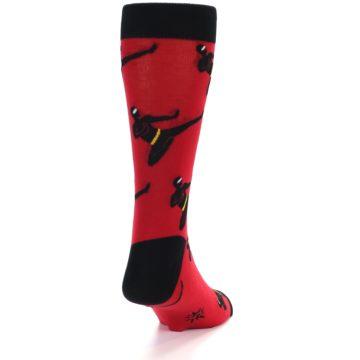Image of Red Black Ninja Men's Dress Socks (back-19)