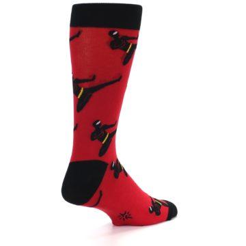 Image of Red Black Ninja Men's Dress Socks (side-1-back-21)