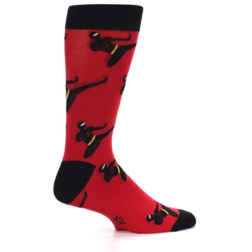 Image of Red Black Ninja Men's Dress Socks (side-1-23)