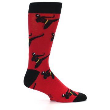 Image of Red Black Ninja Men's Dress Socks (side-1-24)