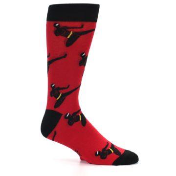 Image of Red Black Ninja Men's Dress Socks (side-1-25)