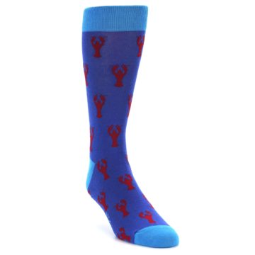 Image of Blue Reb Lobster Men's Dress Socks (side-1-front-02)