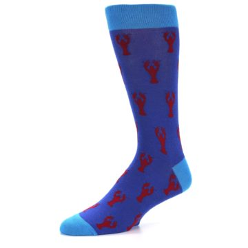 Image of Blue Reb Lobster Men's Dress Socks (side-2-09)