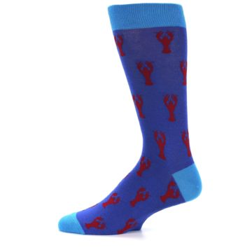 Image of Blue Reb Lobster Men's Dress Socks (side-2-11)