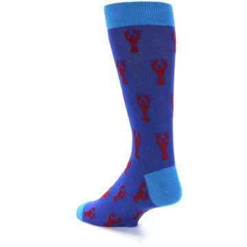 Image of Blue Reb Lobster Men's Dress Socks (side-2-back-14)