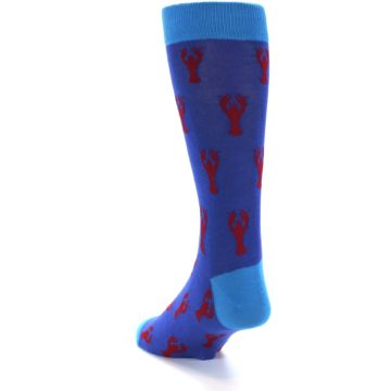 Image of Blue Reb Lobster Men's Dress Socks (side-2-back-15)