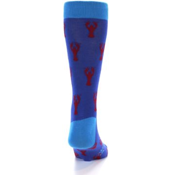 Image of Blue Reb Lobster Men's Dress Socks (back-18)