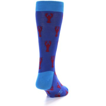 Image of Blue Reb Lobster Men's Dress Socks (back-19)