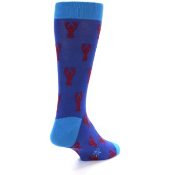 Image of Blue Reb Lobster Men's Dress Socks (side-1-back-20)