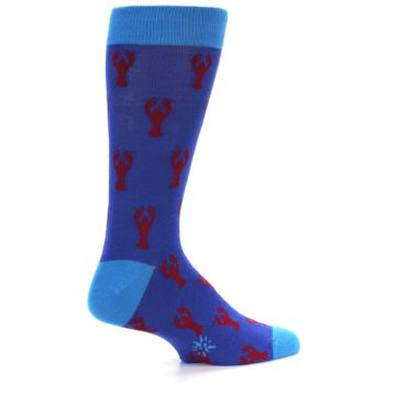 Image of Blue Reb Lobster Men's Dress Socks (side-1-back-22)
