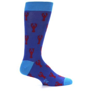 Image of Blue Reb Lobster Men's Dress Socks (side-1-23)