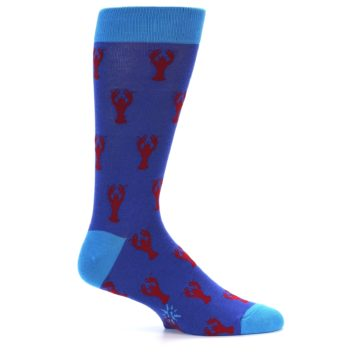 Image of Blue Reb Lobster Men's Dress Socks (side-1-24)