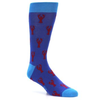 Image of Blue Reb Lobster Men's Dress Socks (side-1-26)