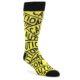 Image of Yellow Black Caution Tape Men's Dress Socks (side-1-front-01)