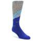 Image of Grey Blue Surfer Men's Dress Socks (side-1-front-01)