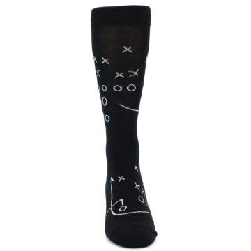 Image of Black White Football Play Men's Dress Socks (front-04)