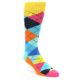 Image of Blues Yellow Pink Argyle Men's Dress Socks (side-1-front-01)