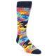Image of Multi-Color Camo Men's Dress Socks (side-1-front-01)