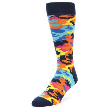 Image of Multi-Color Camo Men's Dress Socks (side-2-front-07)
