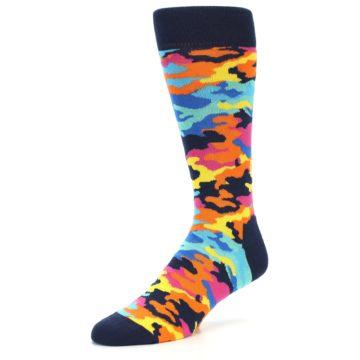 Image of Multi-Color Camo Men's Dress Socks (side-2-front-08)