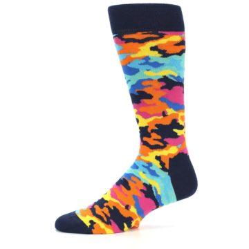 Image of Multi-Color Camo Men's Dress Socks (side-2-10)
