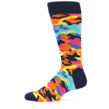 Image of Multi-Color Camo Men's Dress Socks (side-2-11)