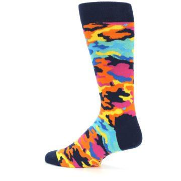 Image of Multi-Color Camo Men's Dress Socks (side-2-12)