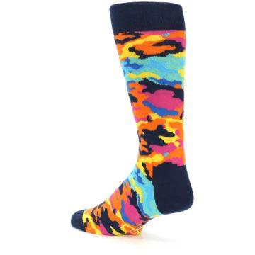 Image of Multi-Color Camo Men's Dress Socks (side-2-13)