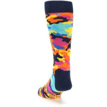 Image of Multi-Color Camo Men's Dress Socks (side-2-back-15)