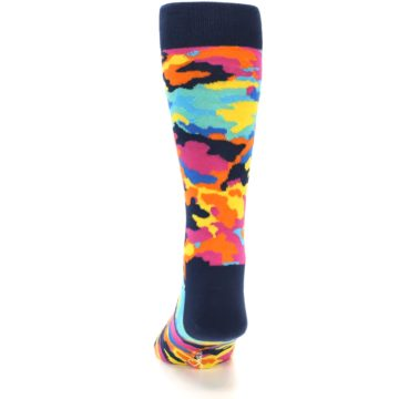 Image of Multi-Color Camo Men's Dress Socks (side-2-back-16)