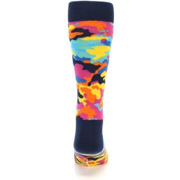 Image of Multi-Color Camo Men's Dress Socks (back-17)