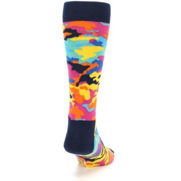Image of Multi-Color Camo Men's Dress Socks (back-18)
