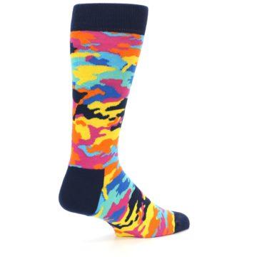 Image of Multi-Color Camo Men's Dress Socks (side-1-back-21)