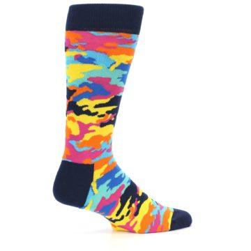 Image of Multi-Color Camo Men's Dress Socks (side-1-back-22)