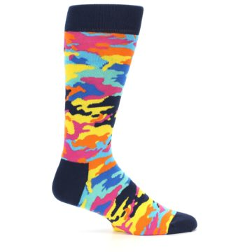Image of Multi-Color Camo Men's Dress Socks (side-1-23)