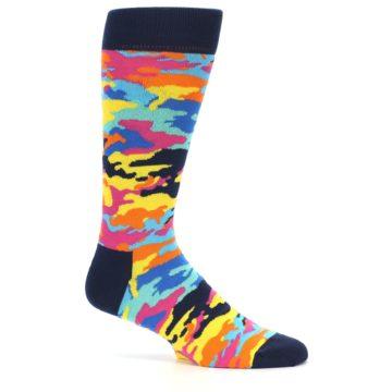 Image of Multi-Color Camo Men's Dress Socks (side-1-24)