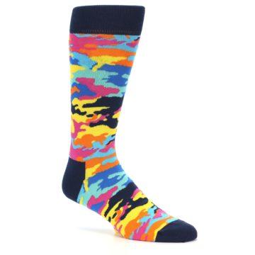 Image of Multi-Color Camo Men's Dress Socks (side-1-25)