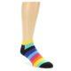 Image of Multi-Color Stripes Men's Ankle Socks (side-1-front-01)