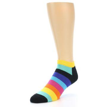 Image of Multi-Color Stripes Men's Ankle Socks (side-2-front-08)